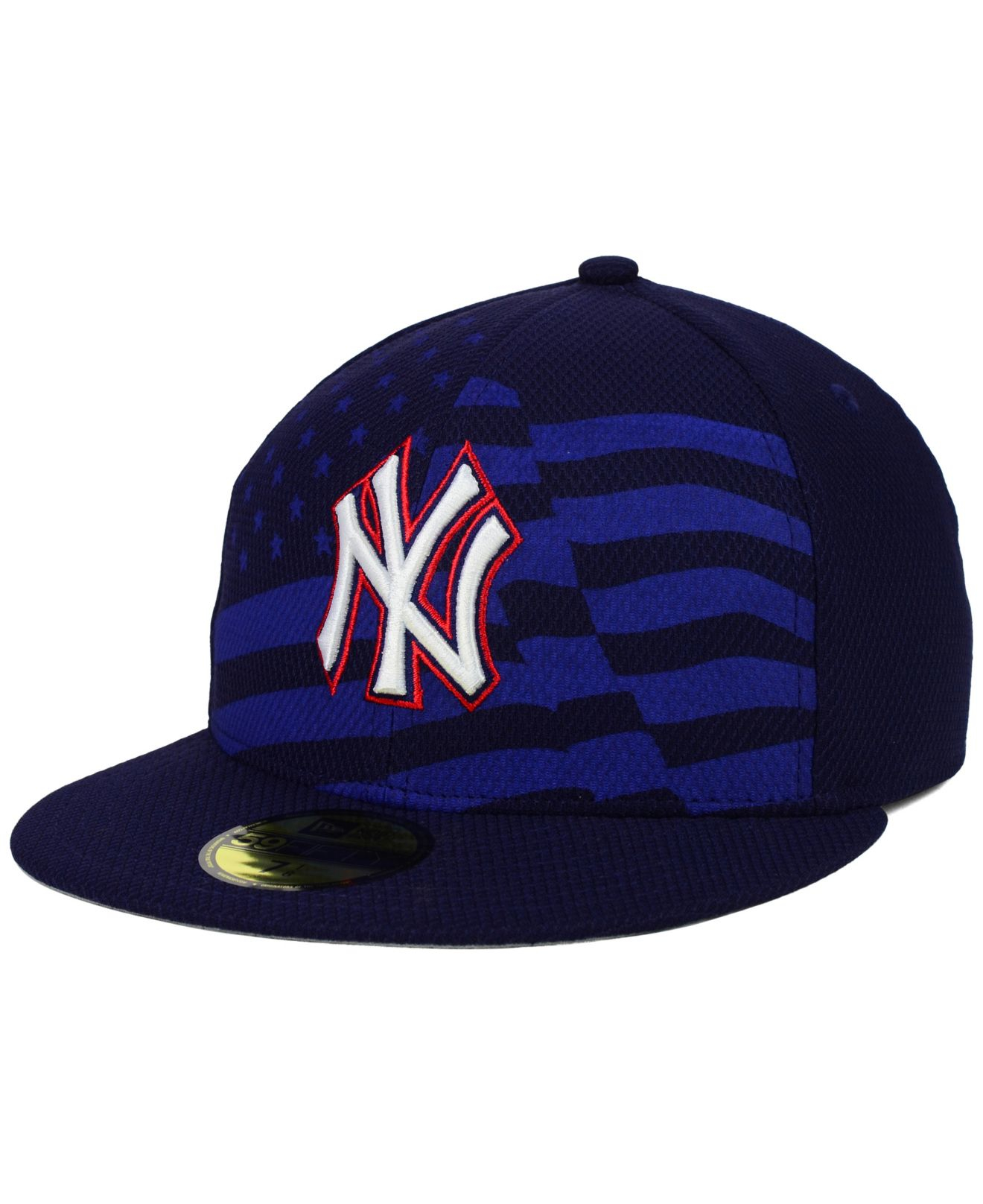 buy popular f36c3 1eaa0 KTZ New York Yankees July 4th Stars   Stripes 59fifty Cap in Blue ...