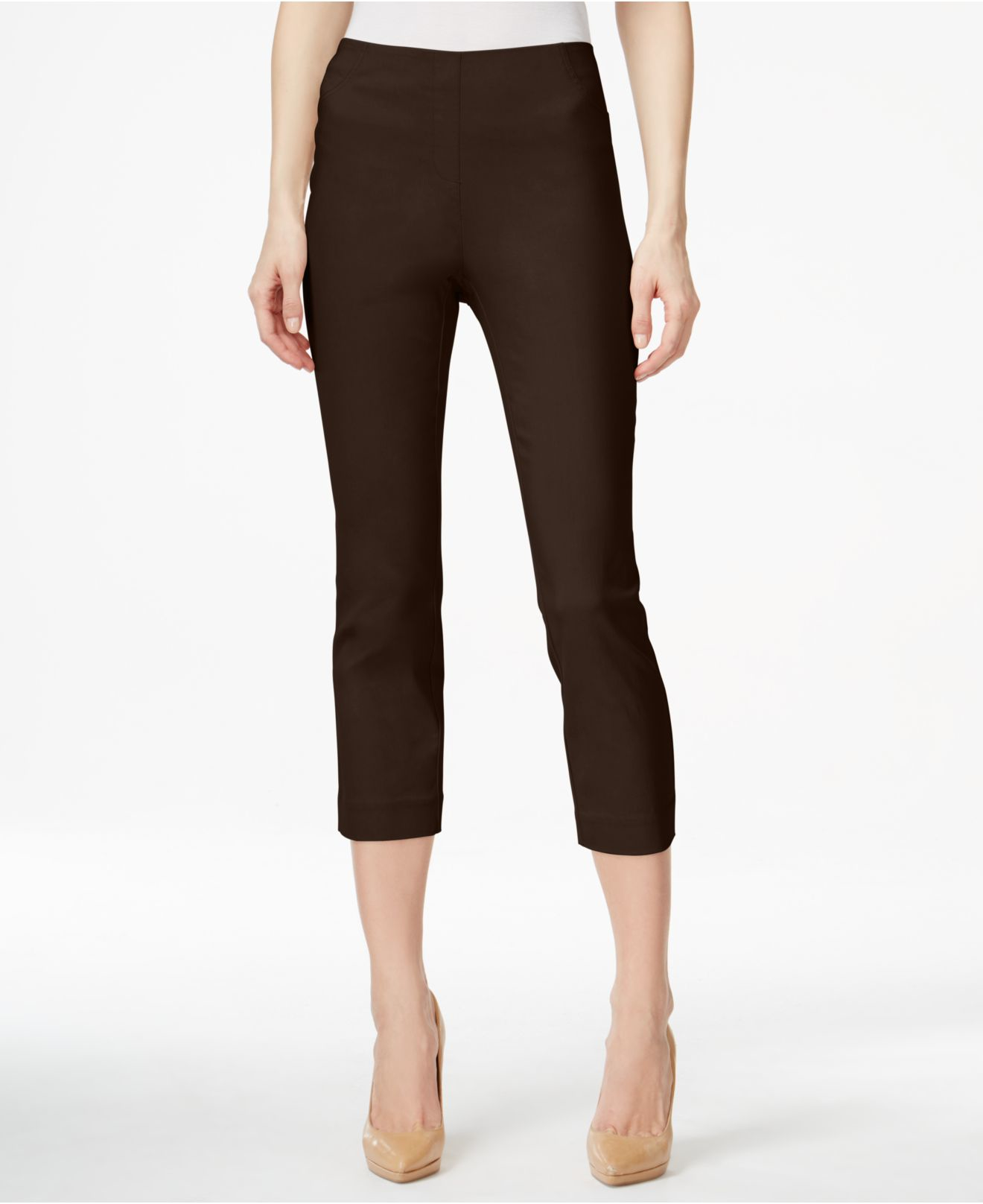 Style & co. Pull-on Capri Pants, Only At Macy's in Brown ...