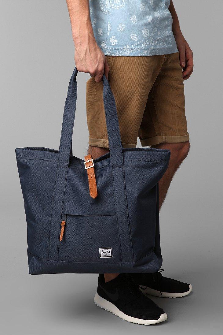 9c685716d Herschel Supply Co. Oversized Market Tote Bag in Blue for Men - Lyst