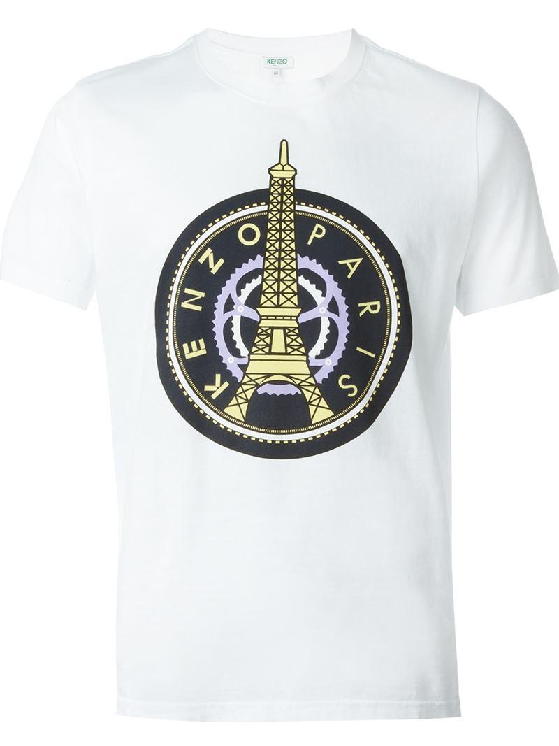441dd5c4e009 KENZO Paris T-shirt in White for Men - Lyst