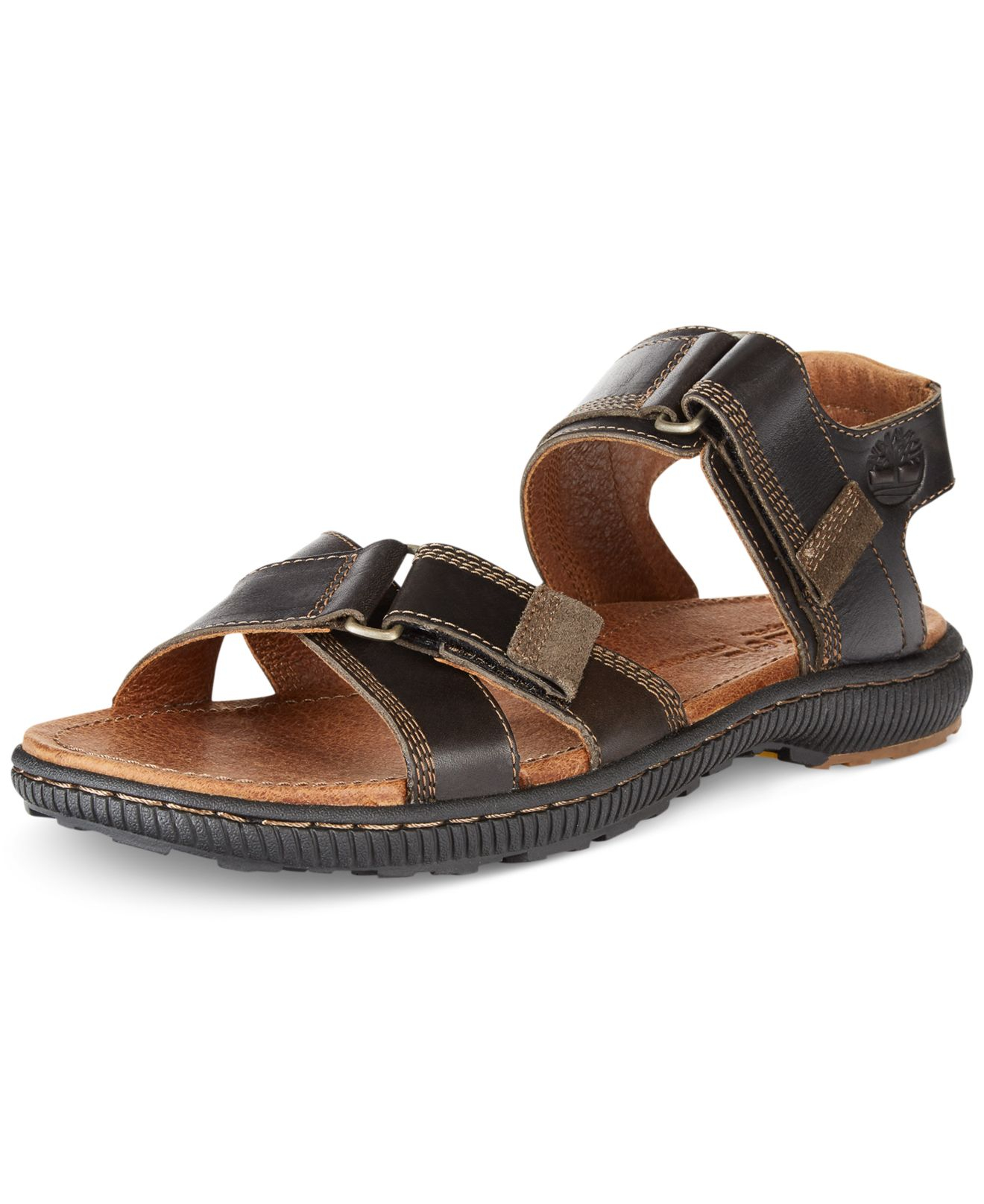 timberland earthkeepers hollbrook sandals in brown for men. Black Bedroom Furniture Sets. Home Design Ideas