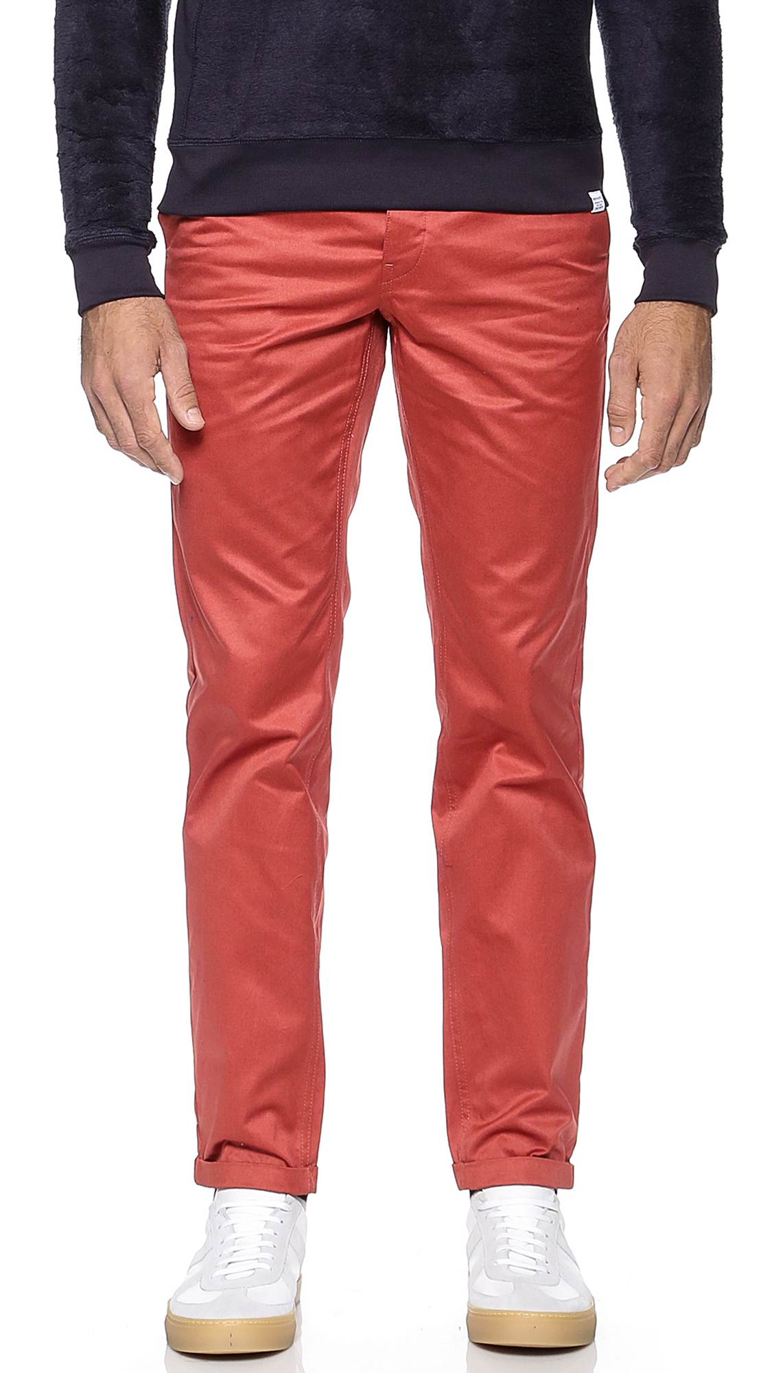 Norse Projects Aros Heavy Chinos in Red for Men
