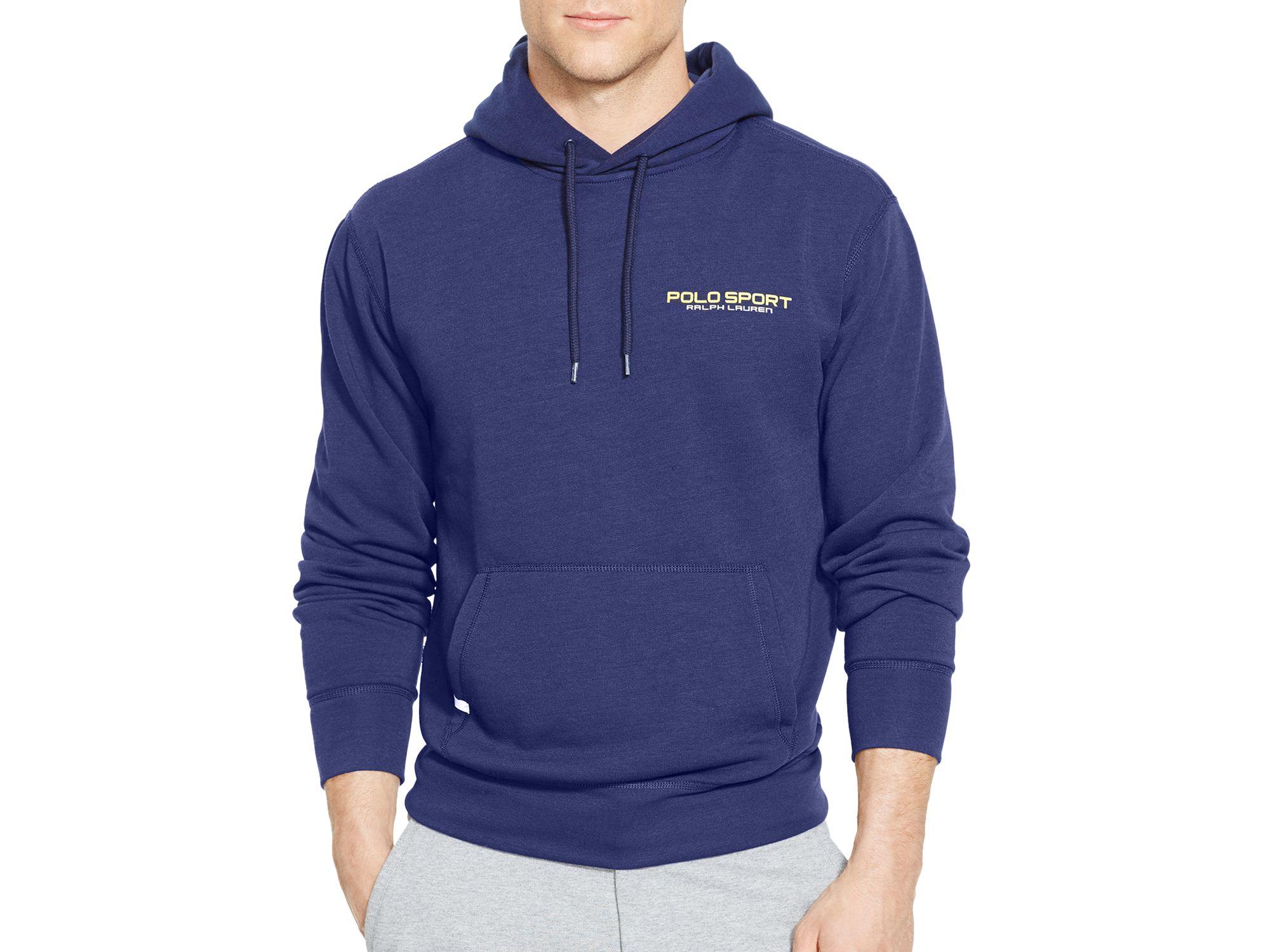 f18c5959 Ralph Lauren Blue Polo Sport Fleece Pullover Hoodie for men