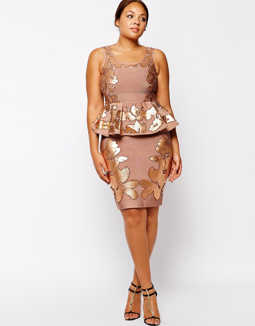 Lyst Forever Unique Plus Size Donatella Embellished Bandage Dress