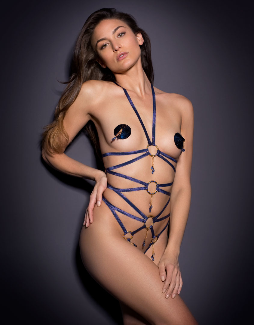 Agent Provocateur Gi Gi Playsuit Navy In Blue Lyst
