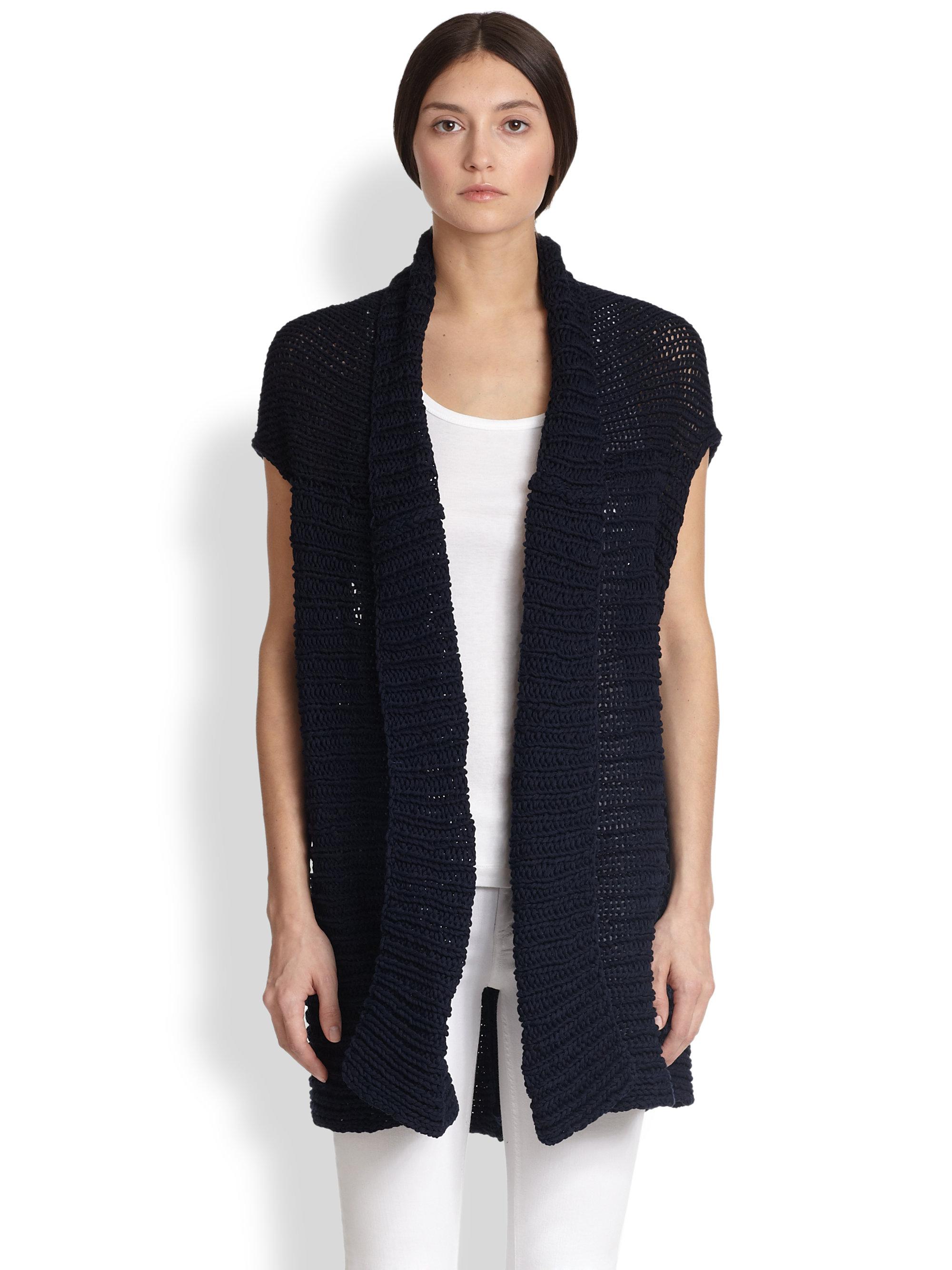 Tess giberson Handknit Sweater Vest in Blue | Lyst