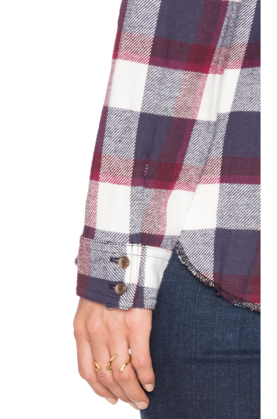 rvca wanted button in blue lyst