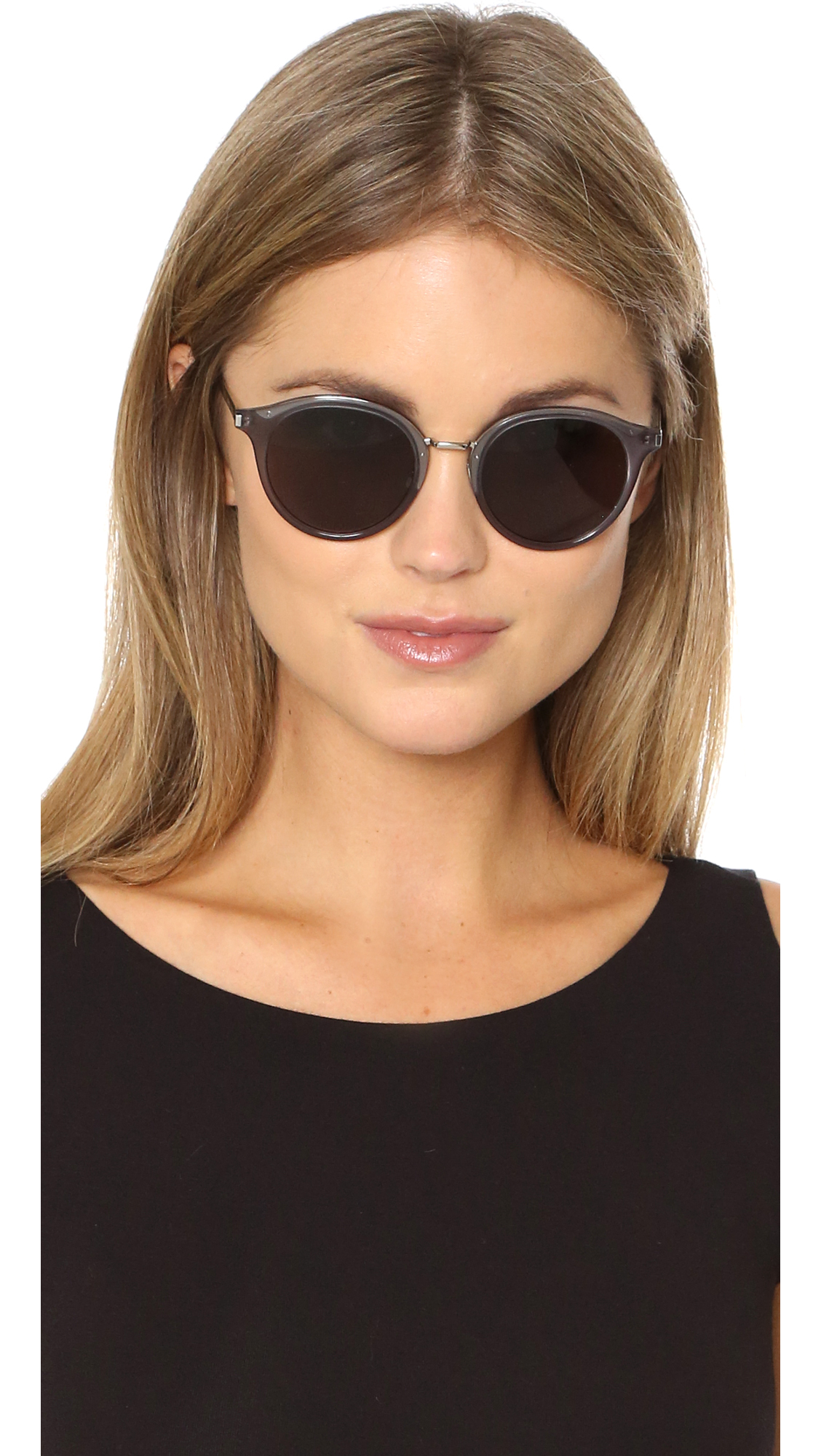 Saint Laurent Sl 57 Sunglasses In Gray Lyst
