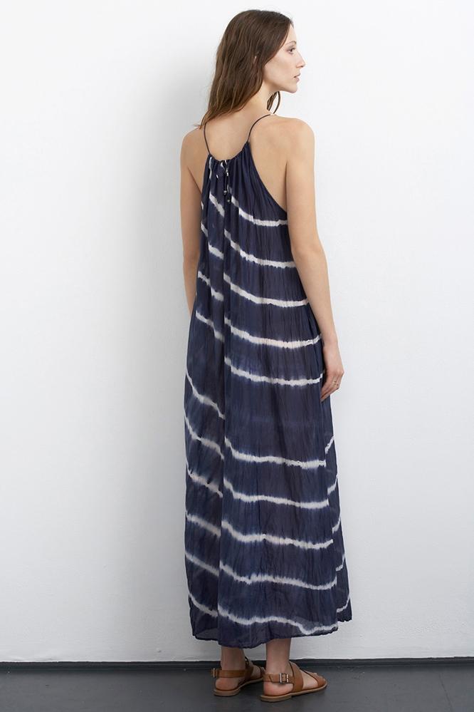 Velvet filipa voile maxi dress