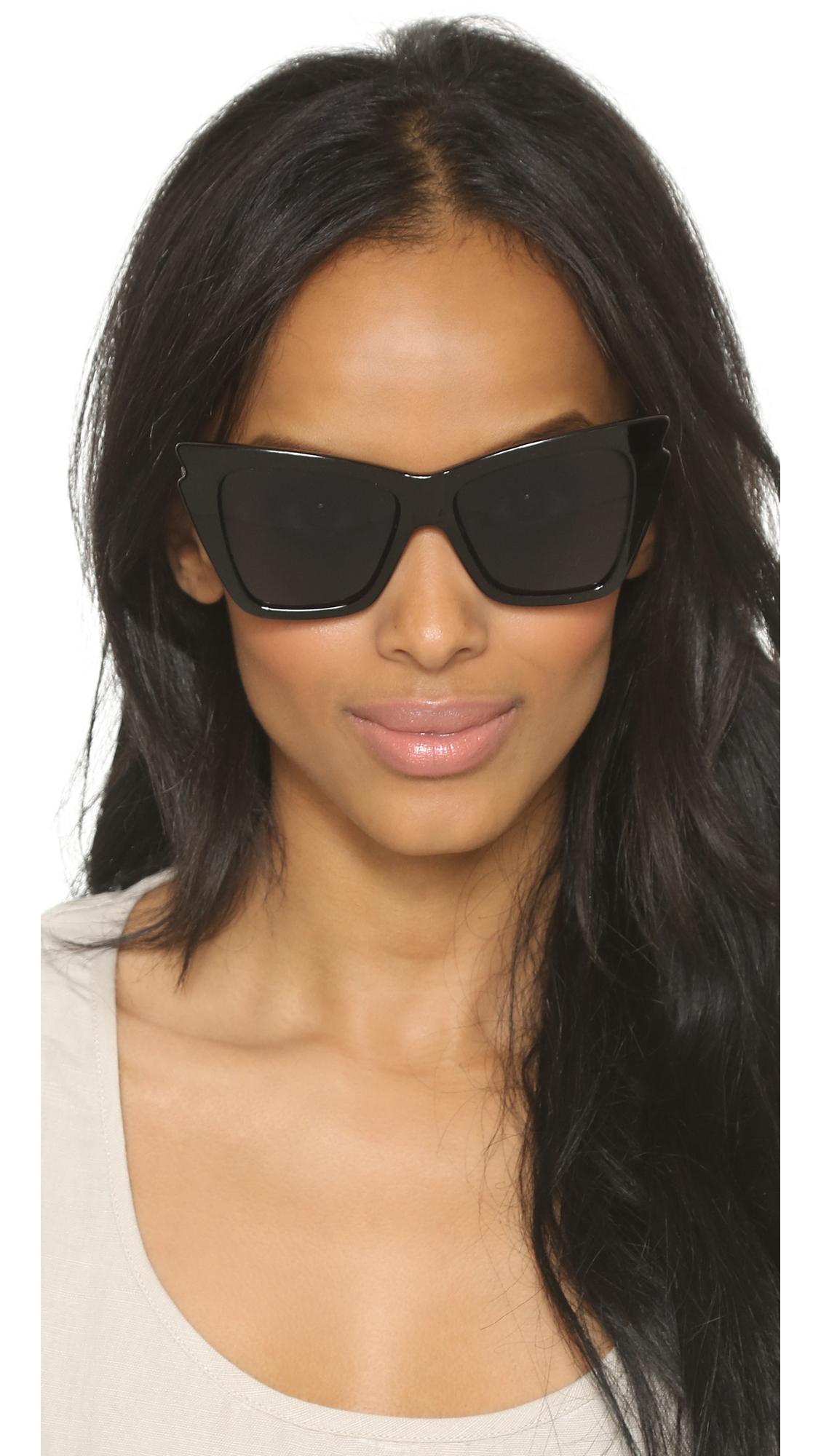 Rapture Cat-eye Acetate Sunglasses - Black Le Specs qEyPsK0CB