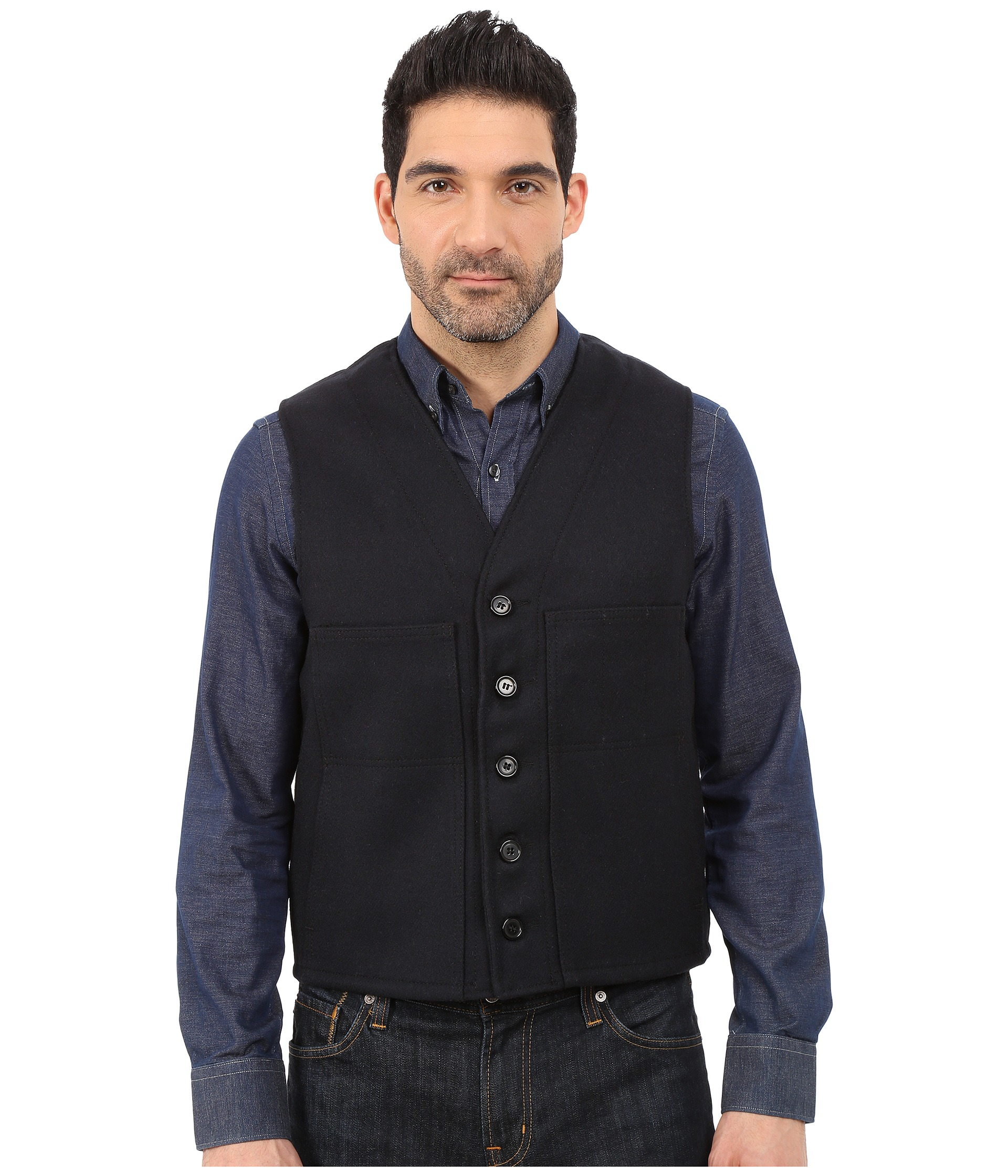 Filson wool mackinaw vest mens black 428 khoury investment group inc