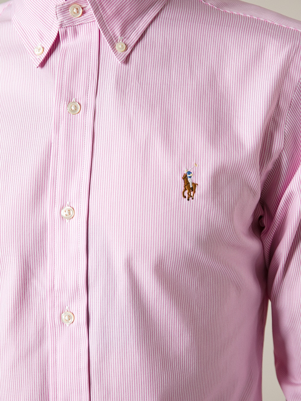 Polo ralph lauren Fine Striped Shirt in Pink for Men | Lyst