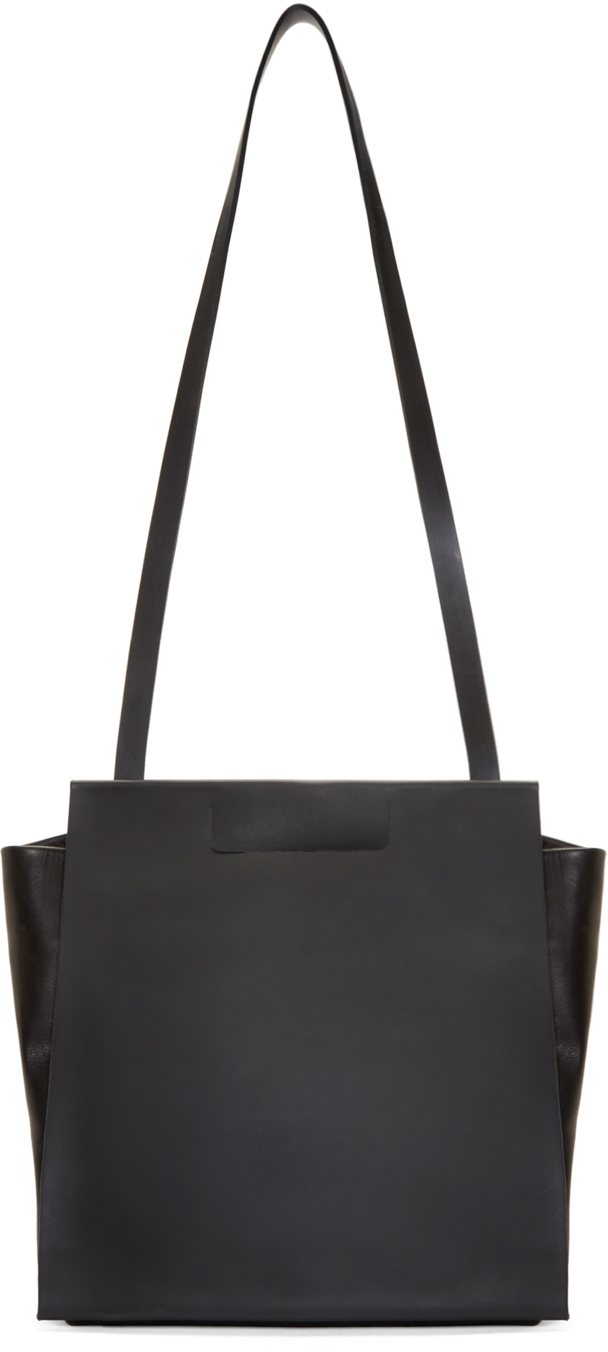 Chiyome Black Leather Tote Backpack in Black | Lyst
