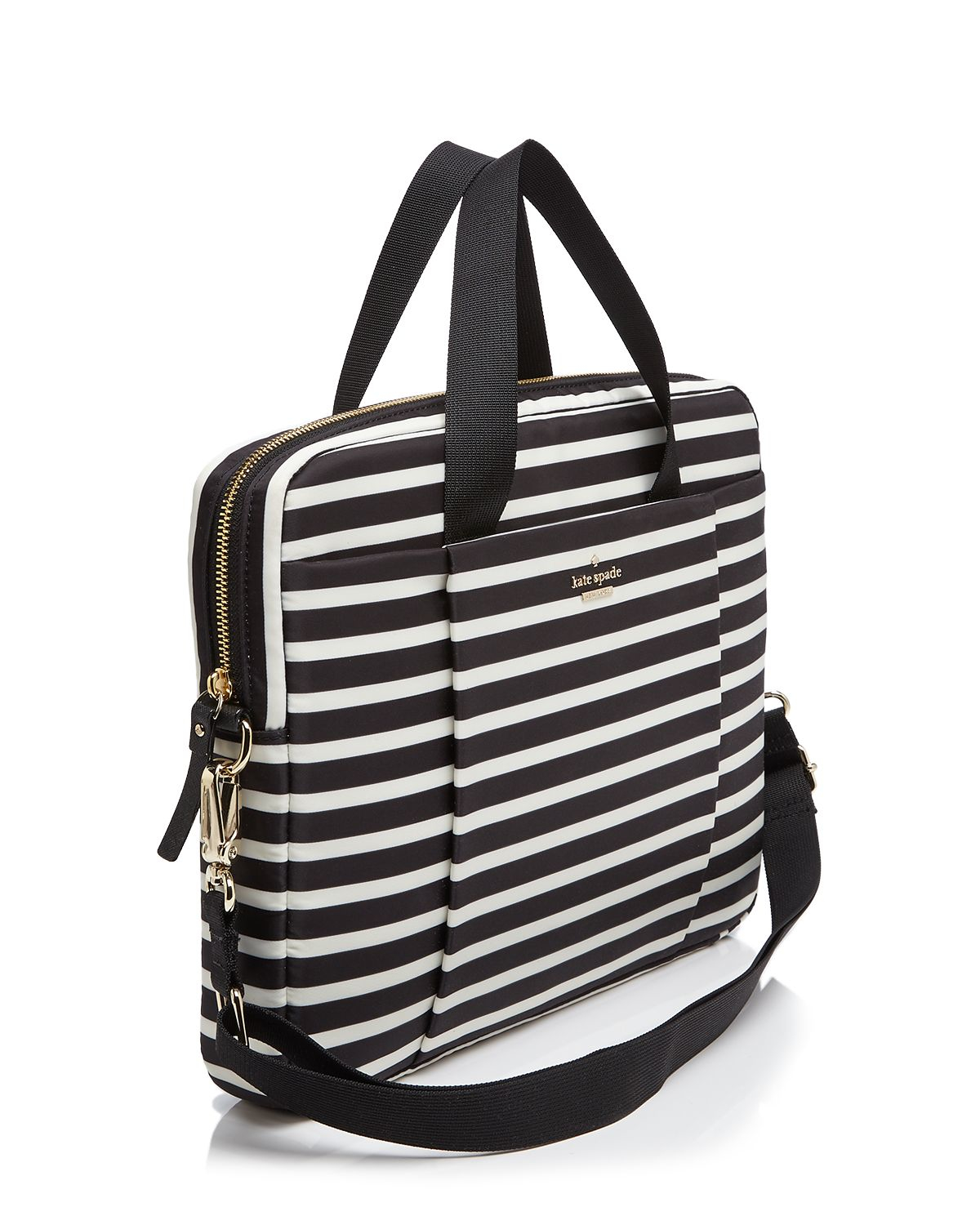 Lyst Kate Spade New York Classic Nylon Stripe Commuter 13
