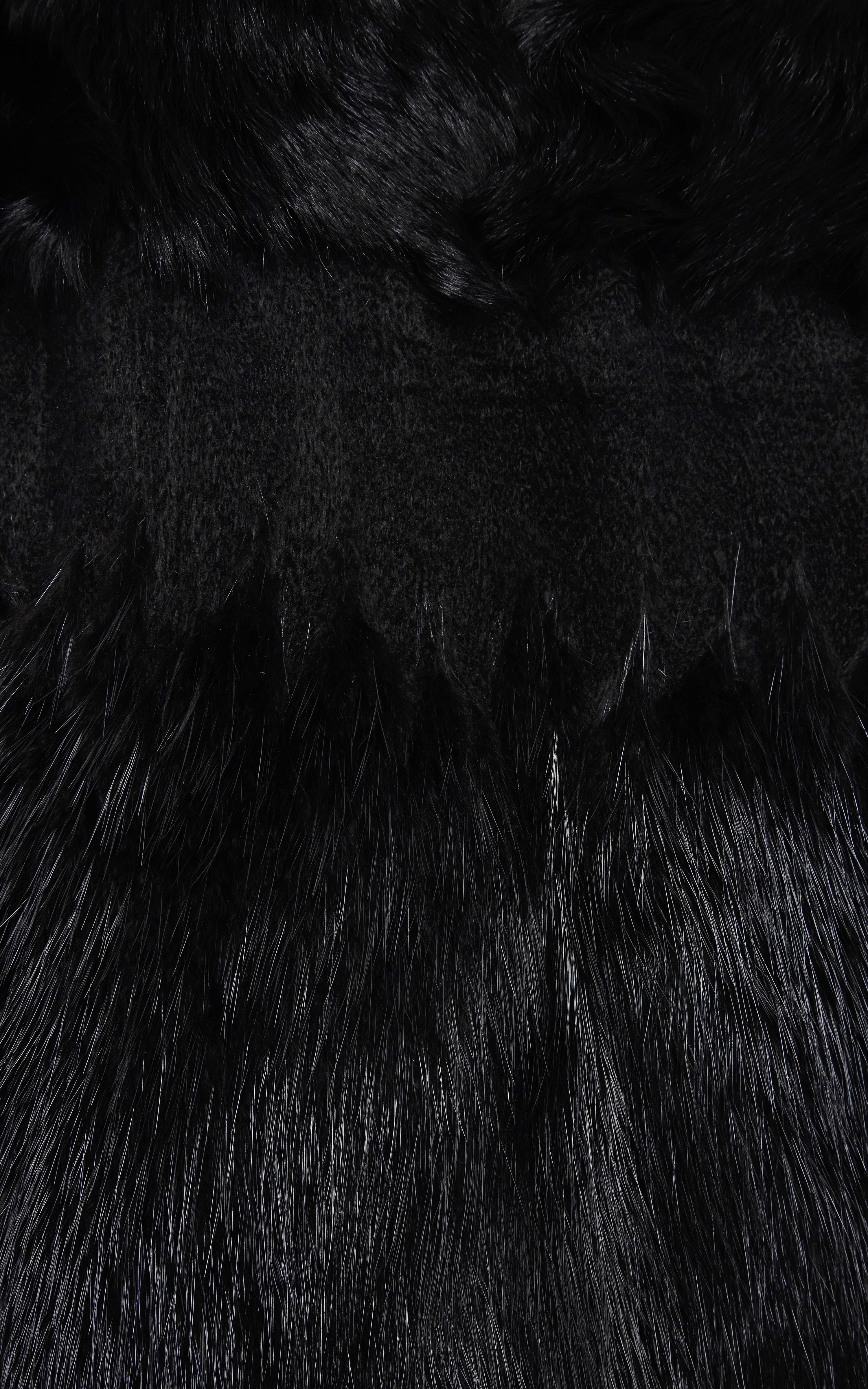 Ferragamo Black Persian Lamb Coat With Beaver Fur Trim Lyst