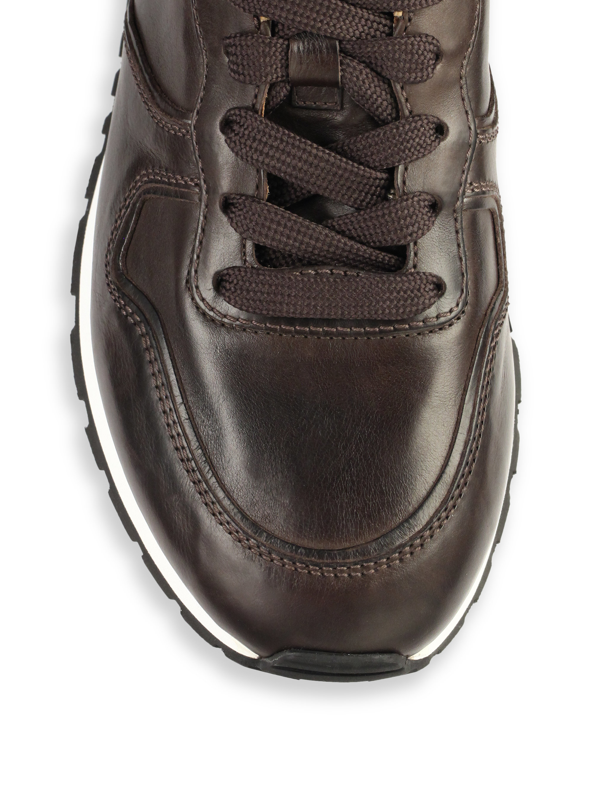 dbe6beb688 Tod's Leather Sneakers in Brown for Men - Lyst