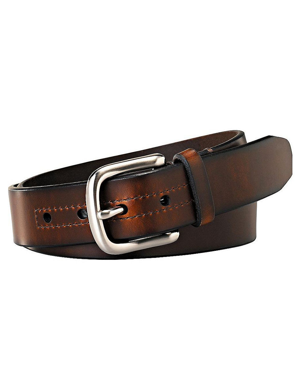 fossil hanover leather belt in brown for lyst