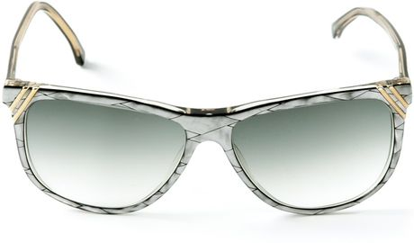 Square Frame Versace Glasses : Versace Square Frame Sunglasses in Gray (grey) Lyst