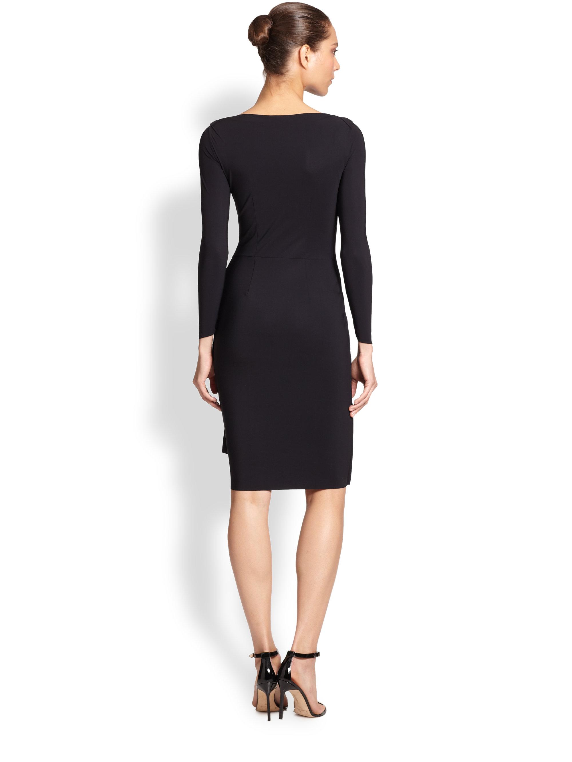 La Petite Robe Di Chiara Boni Long Sleeve Cocktail Dress