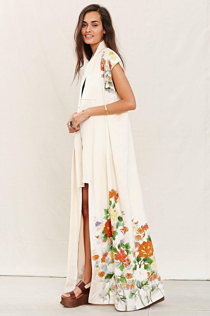 Urban renewal Recycled Sleeveless Kimono Jacket | Lyst