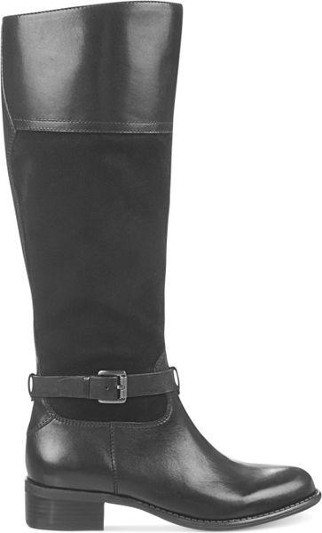Franco Sarto Corda Wide Calf Tall Boots In Black Lyst