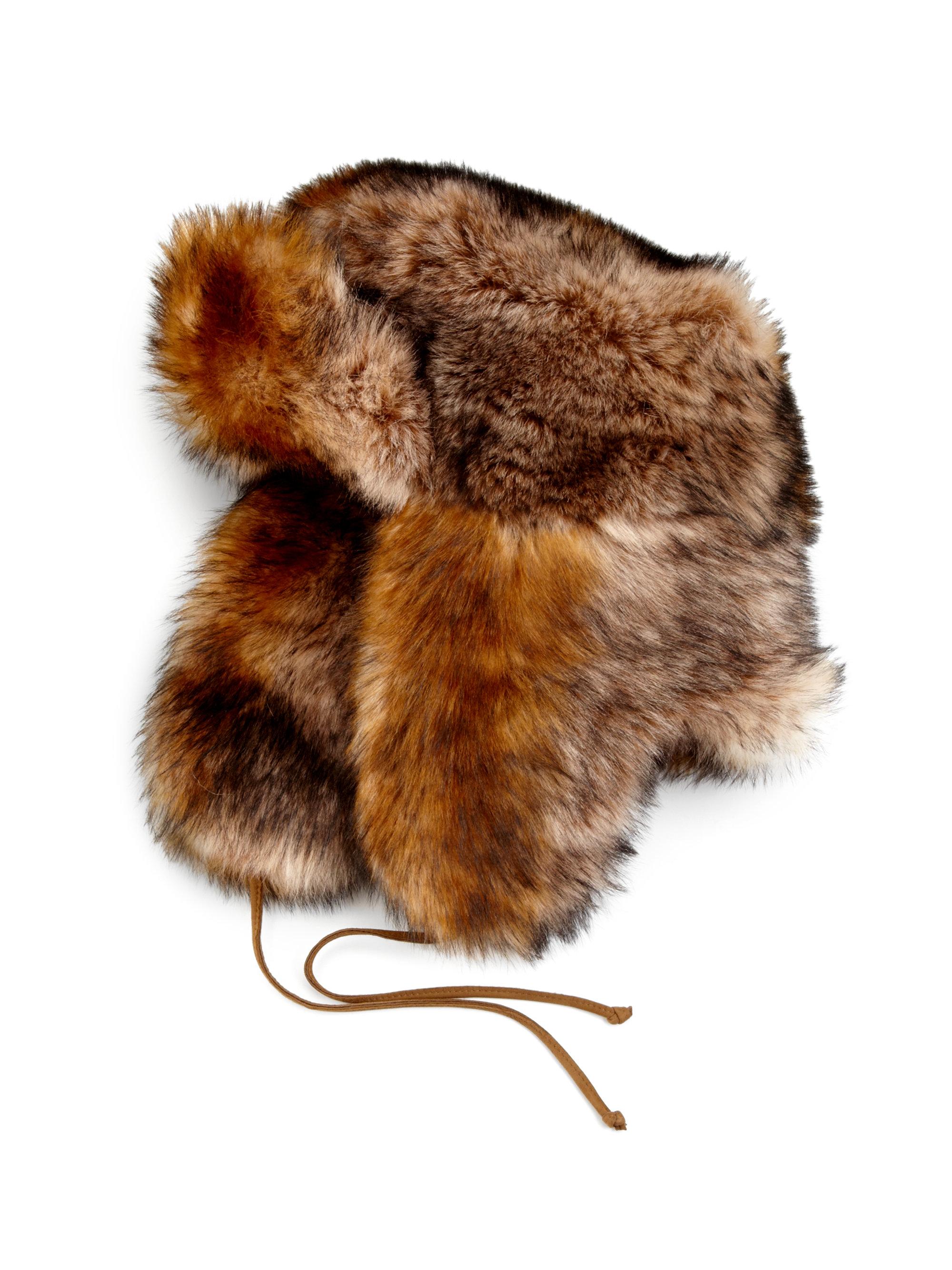 Lyst - Ralph Lauren Shearling Trapper Hat in Brown 5739559d1b0