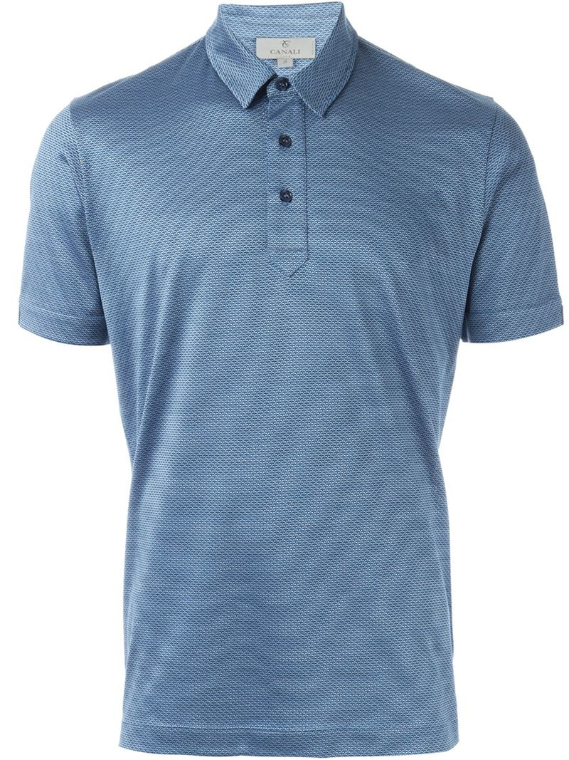 short sleeve polo shirt - Blue Canali Outlet Release Dates Wholesale Price Online Clearance Low Cost j8IKbfQD6b