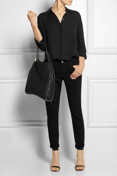 Stella Mccartney The Falabella Faux Brushed Leather Shoulder Bag 11