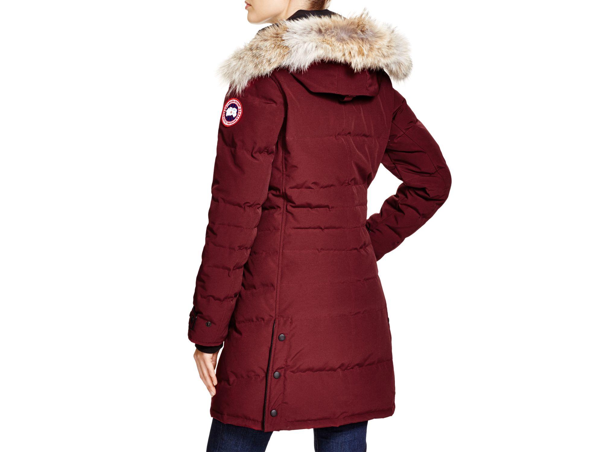 Lyst Canada Goose Lorette Coyote Fur Trim Down Coat In Red