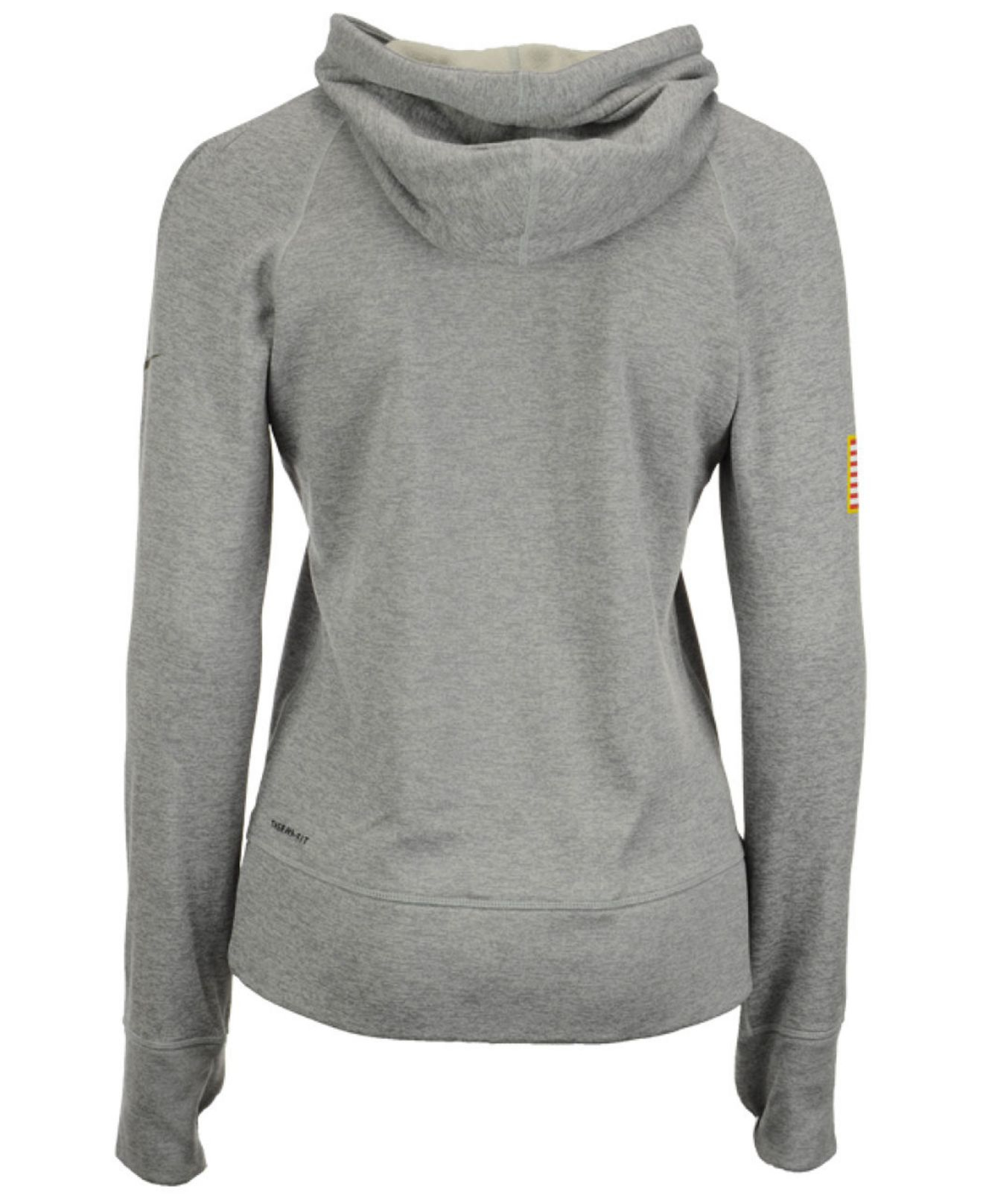 Lyst - Nike Women s Green Bay Packers Salute To Service Hoodie in Gray 78d532b2c