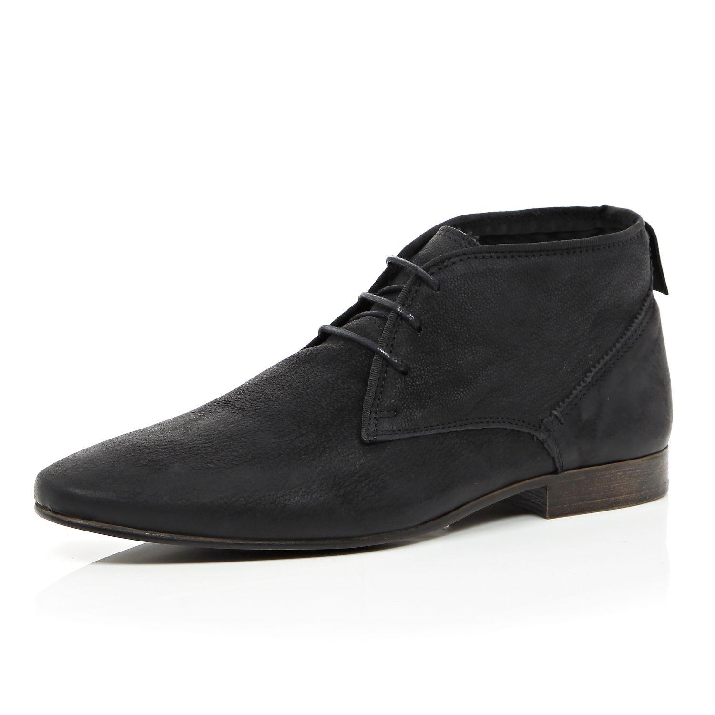 010d173264c Mens black leather chukka boots
