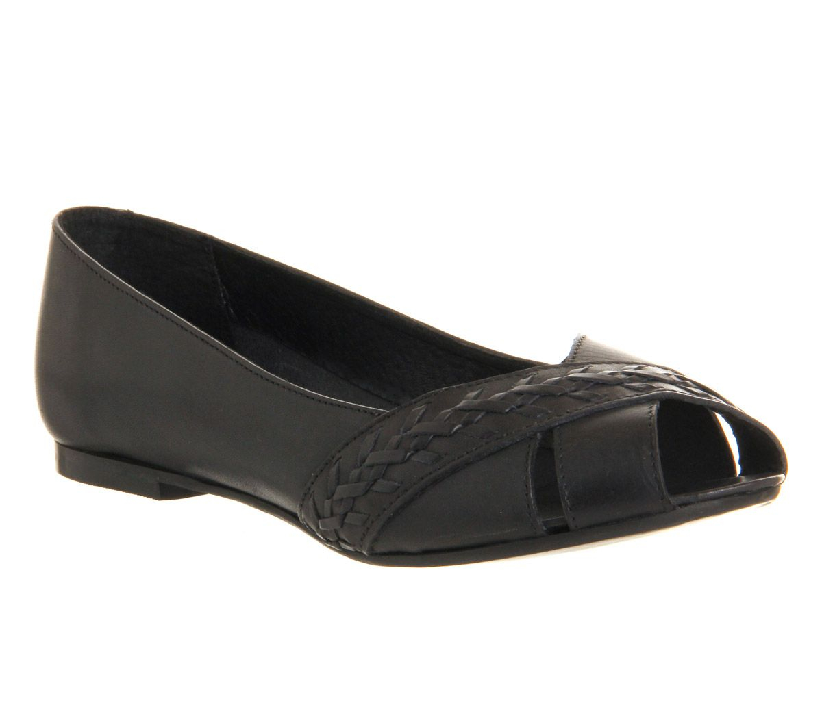 Prada Patent Leather Peep-Toe Flats - Shoes - PRA140173 ...