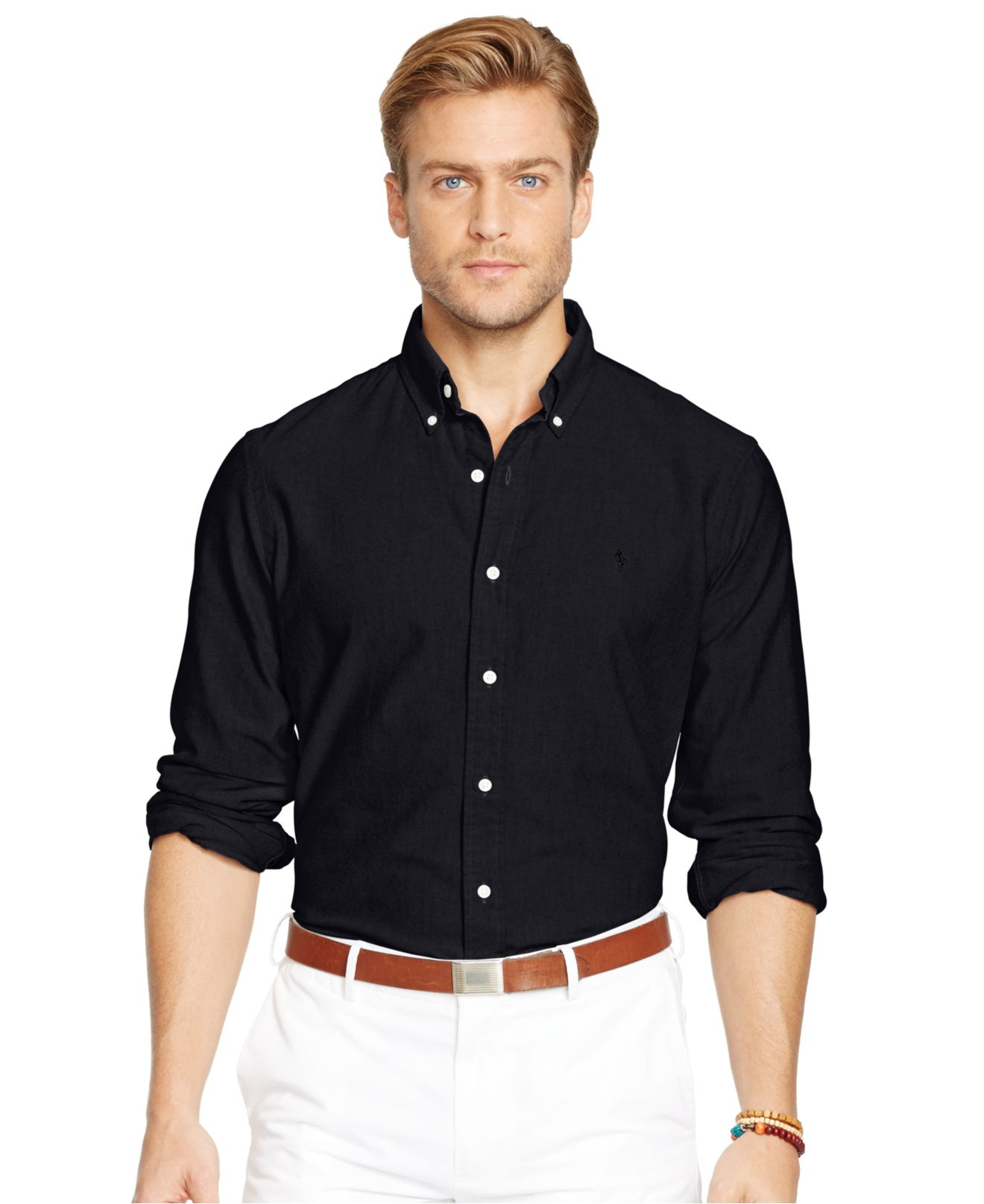 Lyst - Polo ralph lauren Oxford Shirt in Black for Men