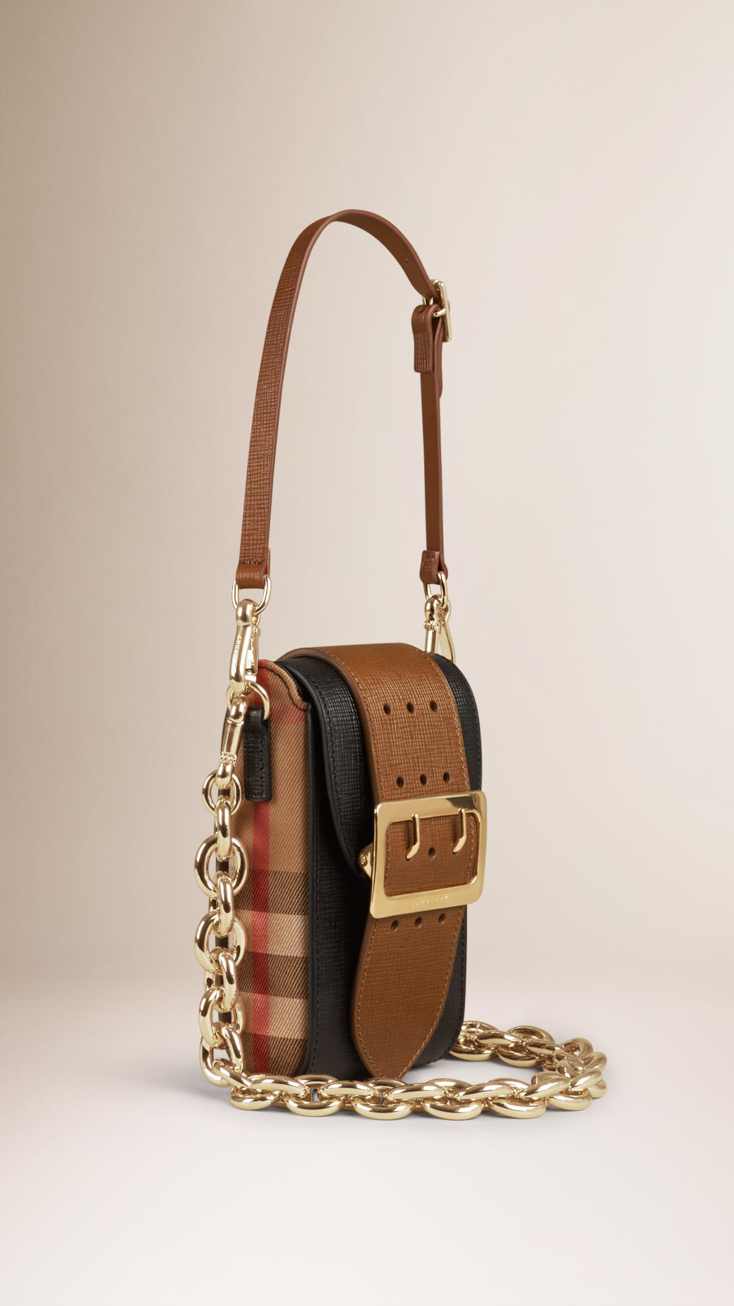 Burberry The Belt Bag Oblong In Textured Leather And