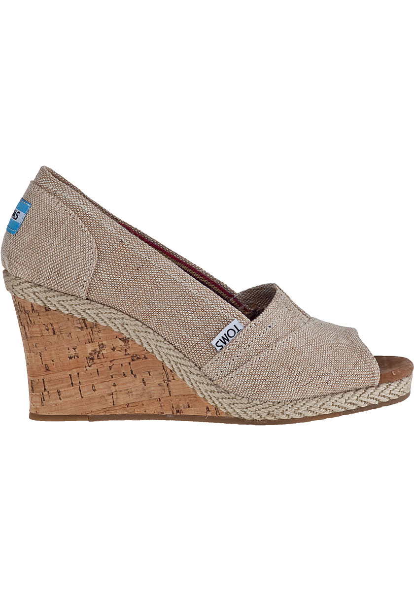 6d28c20c710 Lyst - TOMS Calypso Wedge Pump Amery Fabric in Natural