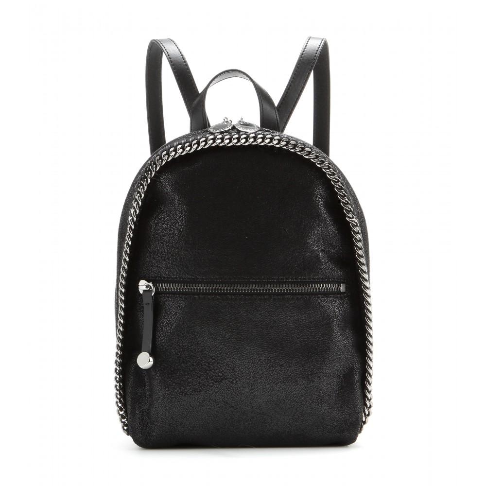 stella mccartney falabella faux suede backpack in black lyst. Black Bedroom Furniture Sets. Home Design Ideas