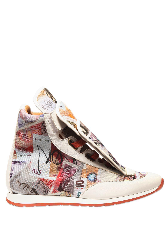 Beige sneakers with multicolor print Vivienne Westwood oNMeCB7