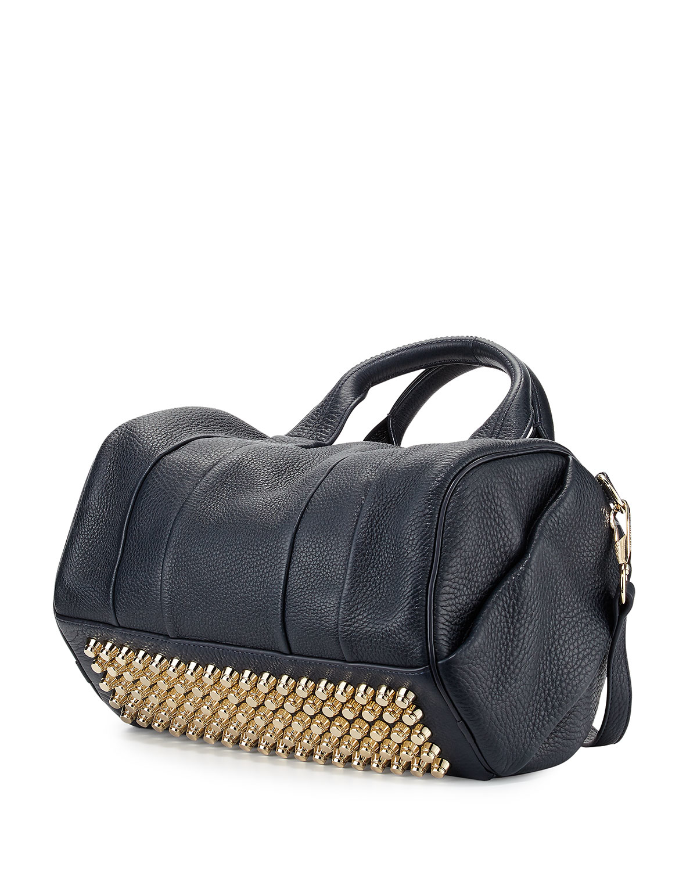 Lyst Alexander Wang Rocco Leather Duffel Bag In Black
