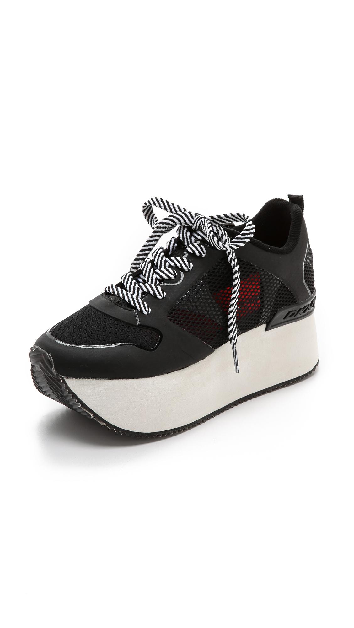 Dkny Black Platform Shoes