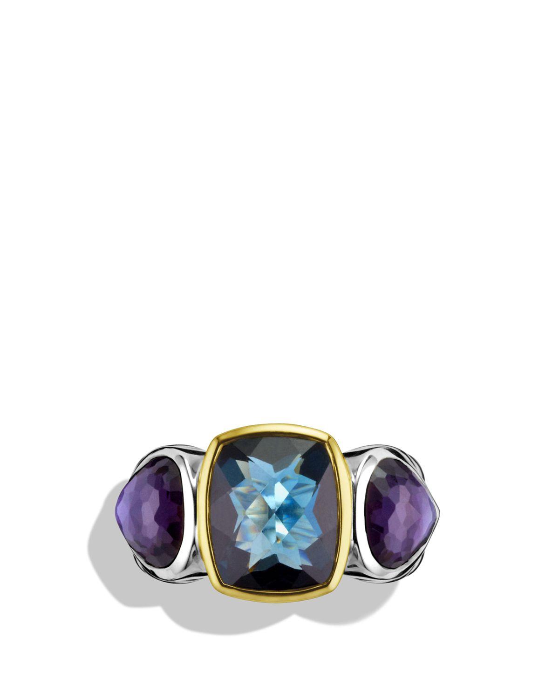 David Yurman Ultramarine Three Stone Ring With Hampton