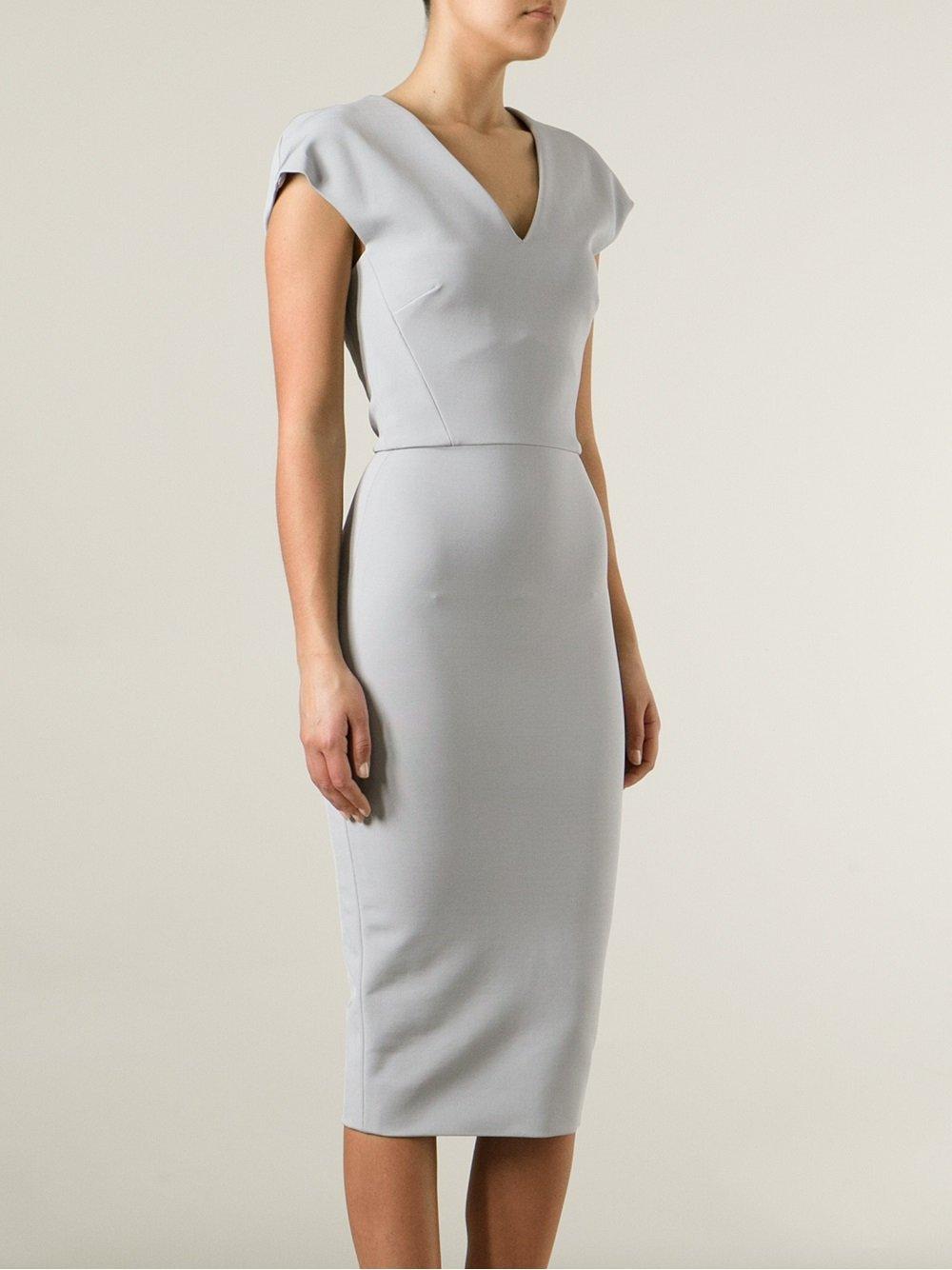 DRESSES - 3/4 length dresses Victoria Beckham jGUbZ