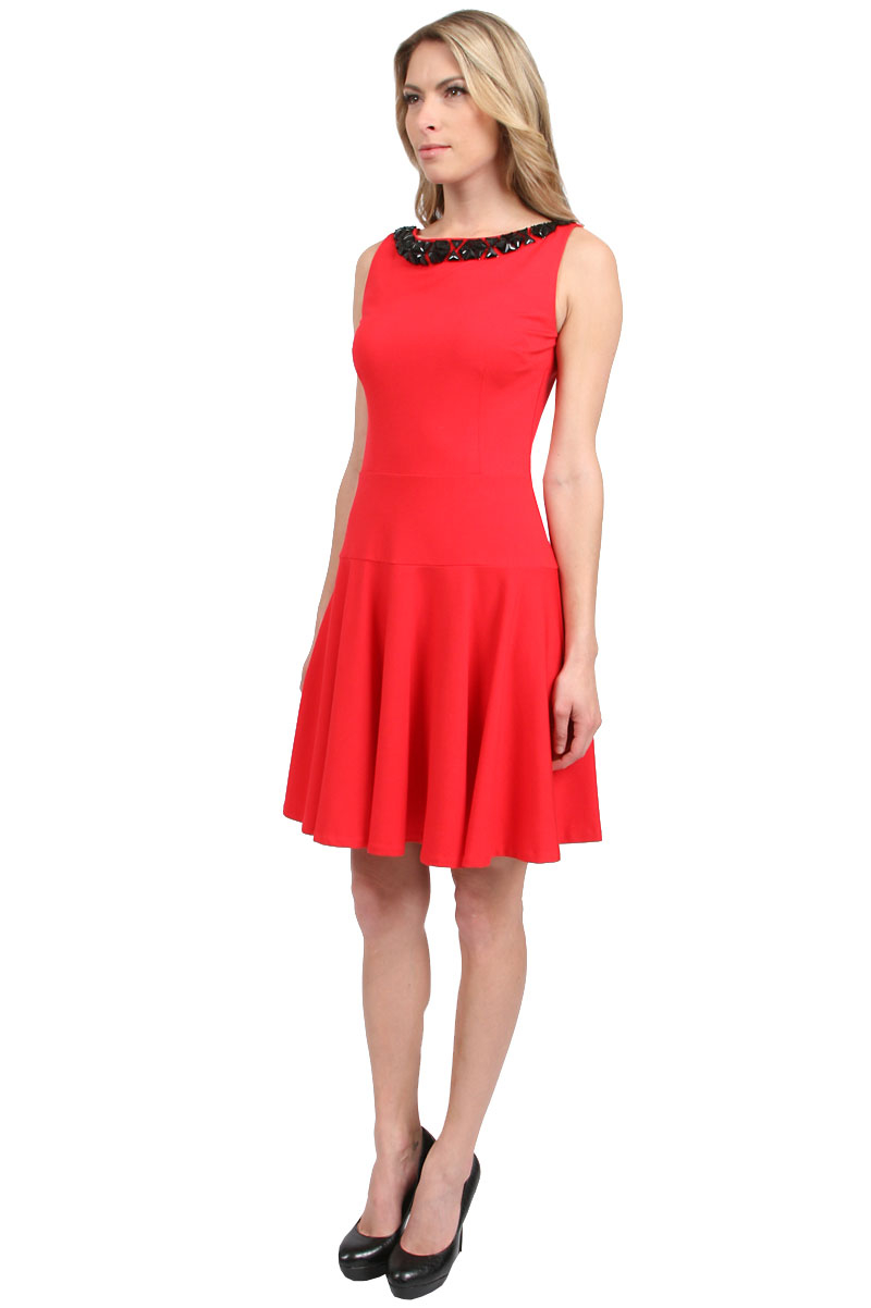 Erin Erin Fetherston Elenor Dress In Red Ruby Red Lyst
