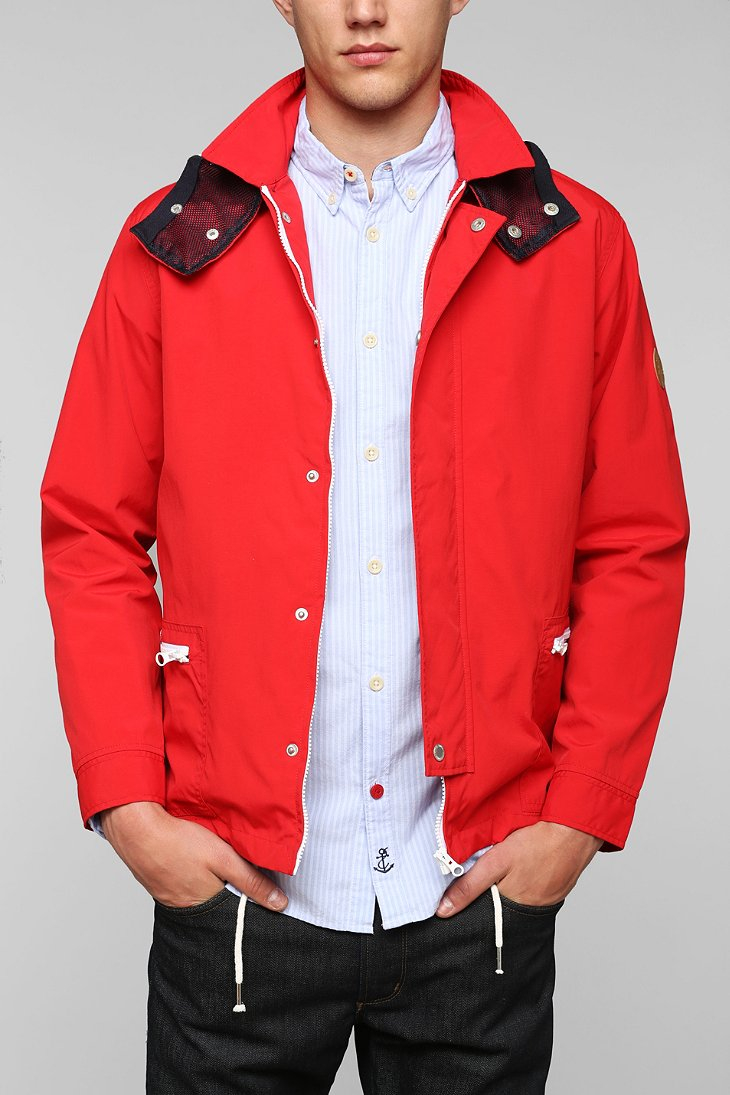 Native youth Tech Windbreaker Jacket in Red for Men | Lyst