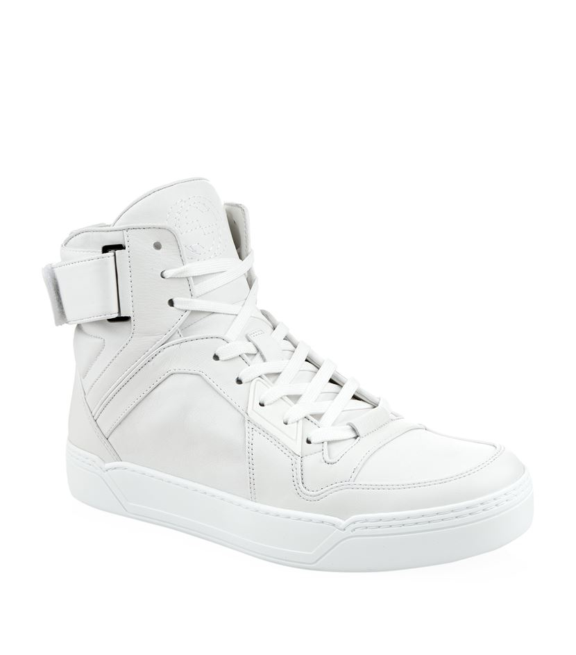 gucci basket high top sneaker in white for men lyst. Black Bedroom Furniture Sets. Home Design Ideas