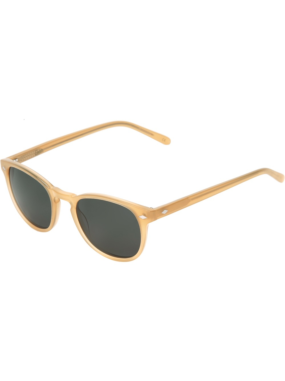 Yellow Frame Sunglasses : Lesca Circle Frame Sunglasses in Yellow for Men (yellow ...