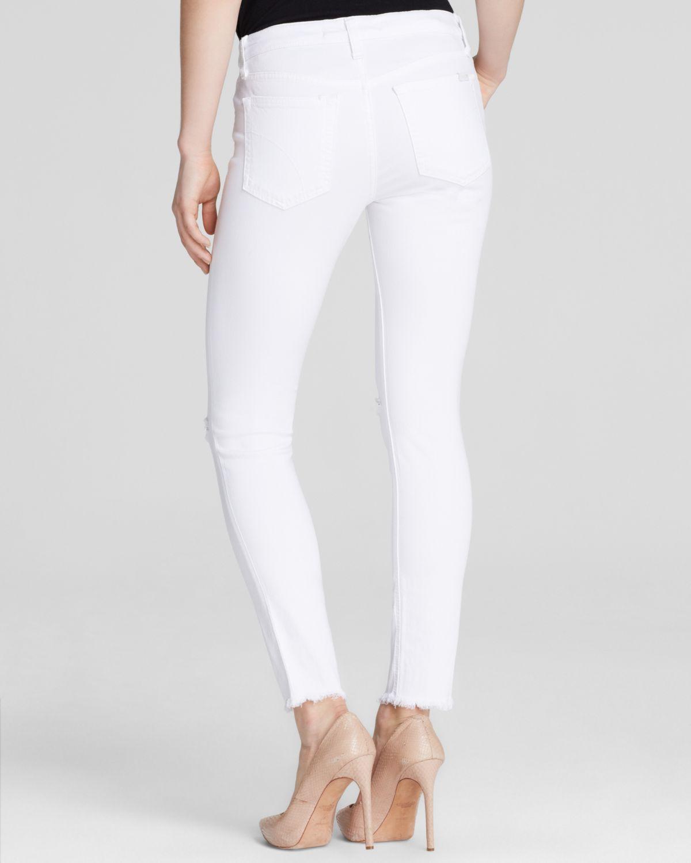 Joe's jeans - Stay Spotless Finn Skinny Ankle In Annie in White | Lyst