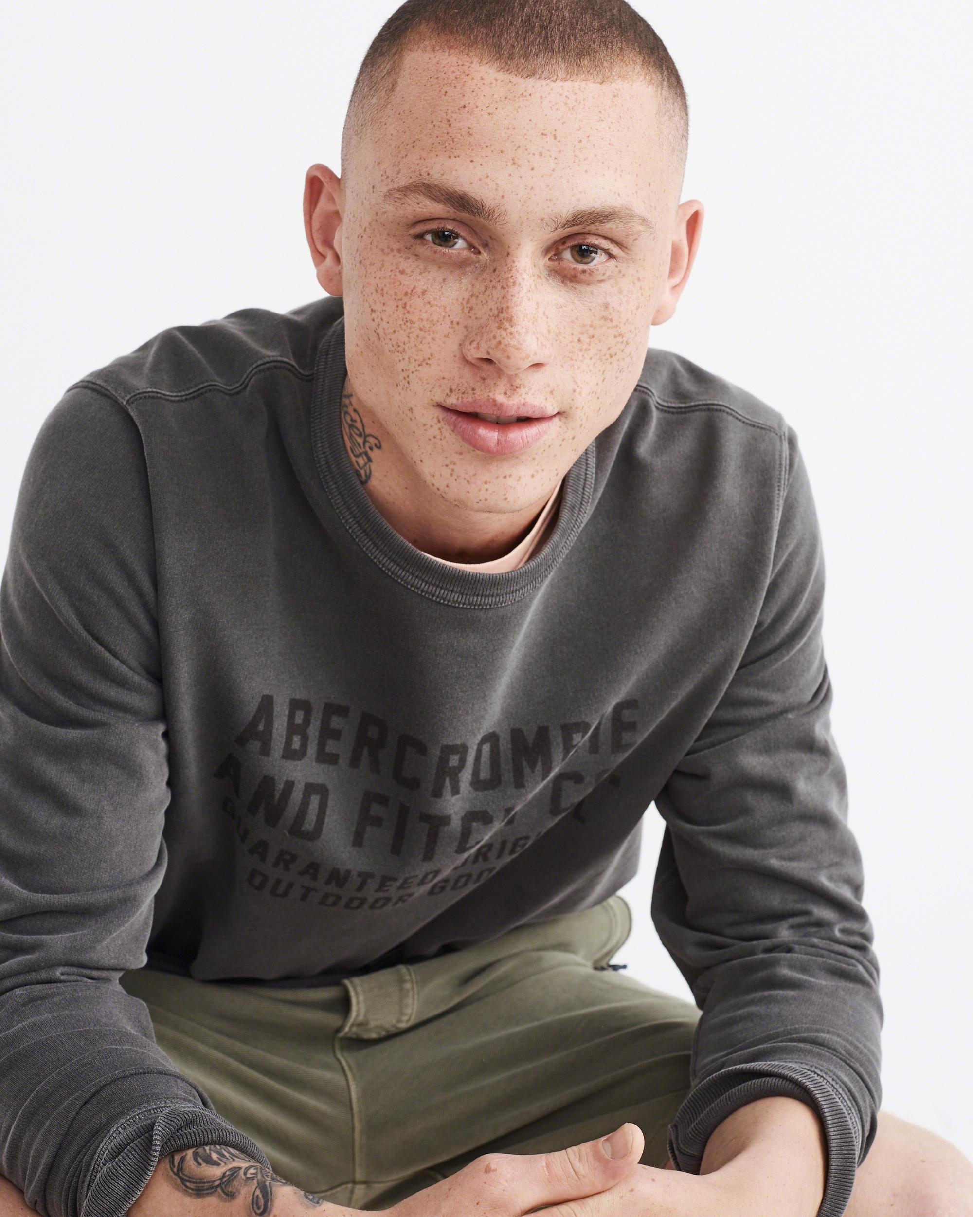 497db8b80fd9 Lyst - Abercrombie   Fitch Garment Dye Fleece Pullover in Gray for Men