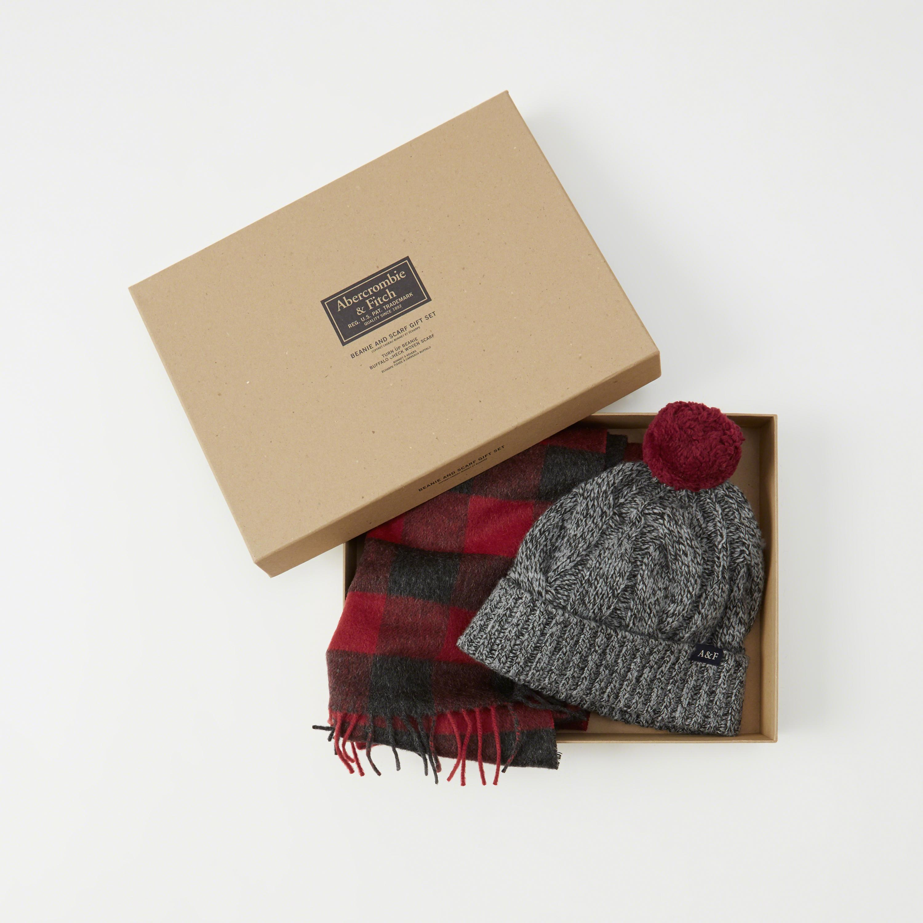 0c3a9303702 Lyst - Abercrombie   Fitch Scarf And Beanie Gift Set Exchange Color ...