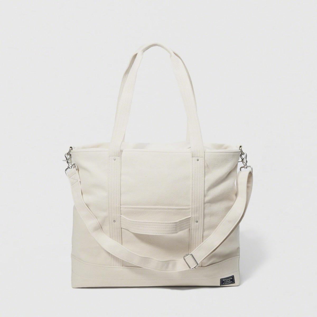 976cab96a81d Lyst - Abercrombie   Fitch A f Vintage Canvas Tote in White