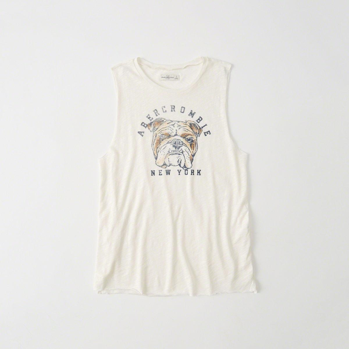 6f1fd37c Lyst - Abercrombie & Fitch Graphic Muscle Tank in White for Men